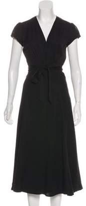 Reformation Short Sleeve Midi Wrap Dress