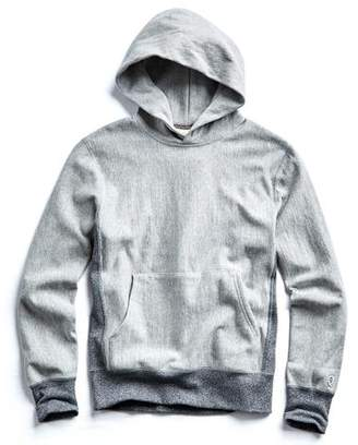 Todd Snyder + Champion Contrast Reverse Weave Popover Hoodie in Light Grey Mix
