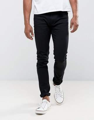 Farah Drake slim fit twill jeans in black