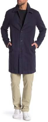 Save Khaki Herringbone Trench Coat