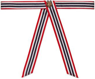 Striped neck bow with feline $165 thestylecure.com
