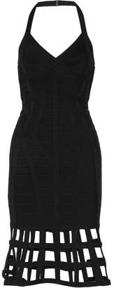 Herve Leger Halterneck Bandage Dress - Black