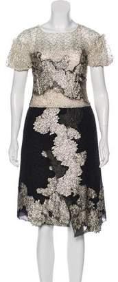 Michael Van Der Ham Metallic Midi Dress