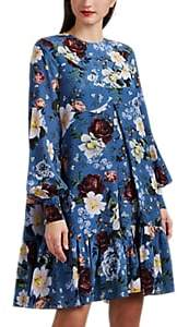 Erdem Women's Christy Floral Silk Dress - Blue Multi