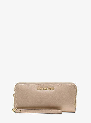 MICHAEL Michael Kors Travel Metallic Leather Continental Wallet