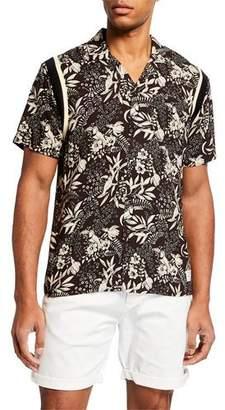 Scotch & Soda Men's Botanical-Print Hawaiian Shirt
