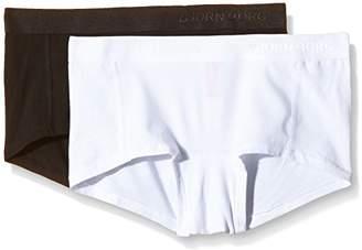 Bjorn Borg Women's Noos Solids Pack of 2 Plain Boy Short,(Manufacturer Size:Medium)