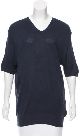 Dolce & GabbanaD&G V-Neck Short Sleeve Sweater