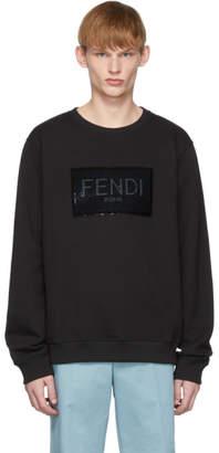 Fendi Black Sequined Logo Sweatshirt