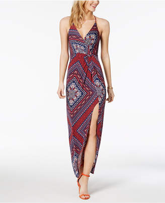 BCBGeneration Printed Twist-Front Maxi Dress