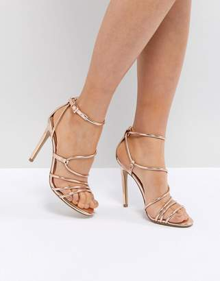 Steve Madden Smith Rose Gold Strappy Sandals