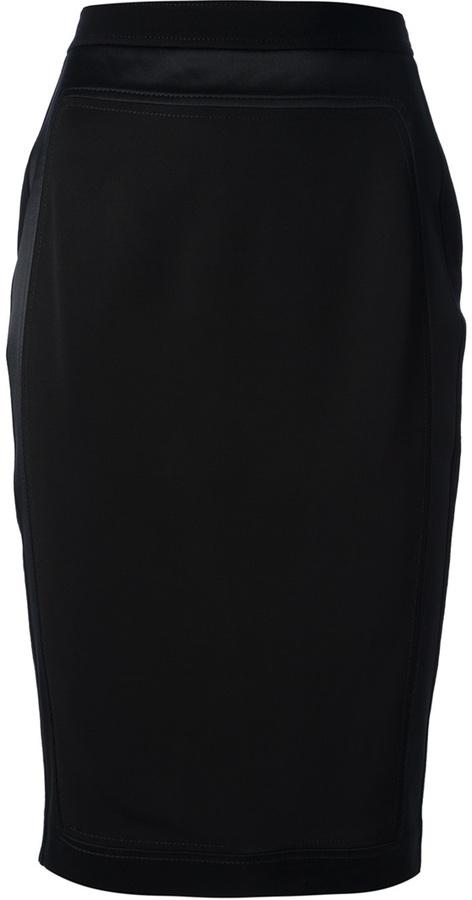 Givenchy paneled pencil skirt