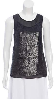 db64c6f82abf0 Gryphon Silk Sequin-Embellished Top