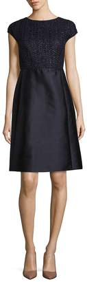 Lafayette 148 New York Women's Hillany Mixed Media A-Line Dress