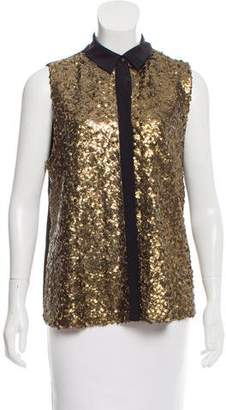 Rebecca Minkoff Sleeveless Sequin Top