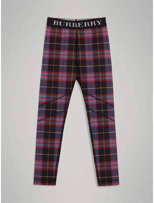 Burberry Tartan Stretch Jersey Leggings