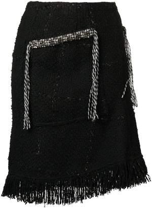Sonia Rykiel fringe tweed skirt