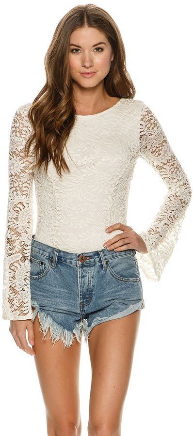 Billabong Billabong Eternal Bliss Crochet Lace Bodysuit
