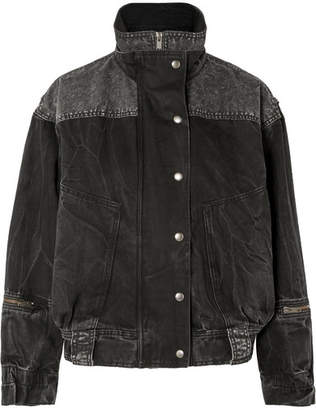 Givenchy Oversized Crinkled-denim Jacket - Black