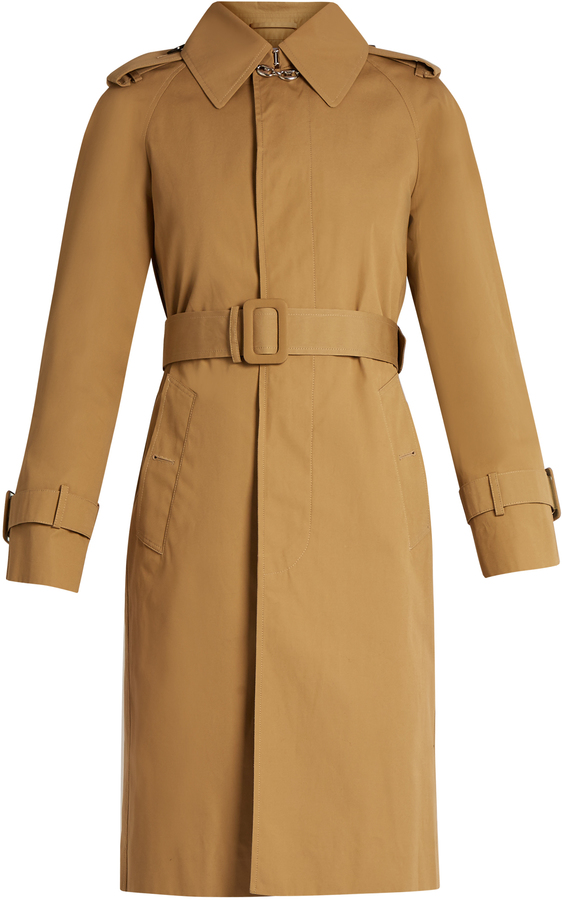 Balenciaga BALENCIAGA Chain-detail cotton trench coat
