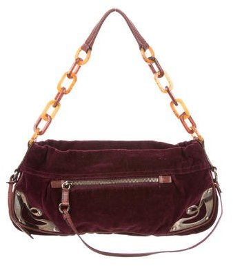 Miu Miu Miu Miu Velvet Shoulder Bag