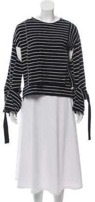 Celine Striped Wool Sweater