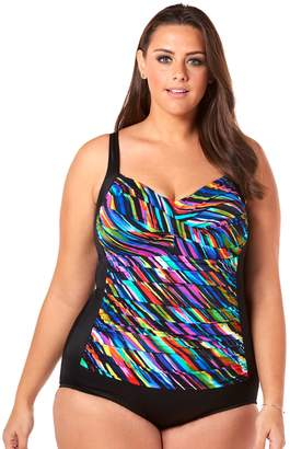 6d5625629b2 Croft   Barrow Plus Size Bust Minimizer Twist-Front One-Piece Swimsuit