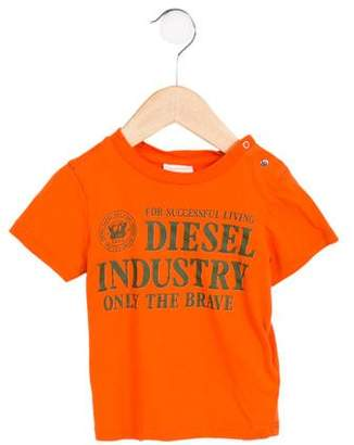 Diesel Boys' Graphic Short Sleeve Shirt