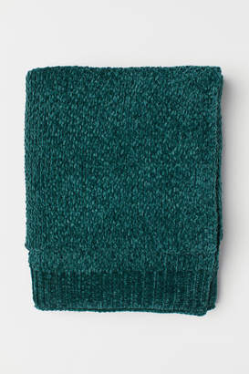 H&M Chenille Throw - Green