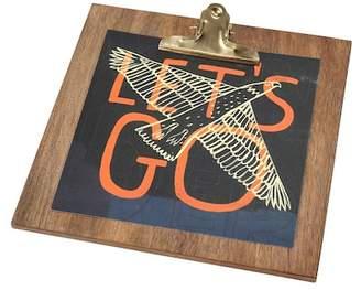 FLOOR 9 Let's Go Print on Mango Wood Clip Frame