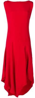 Chalayan asymmetric draped shift dress