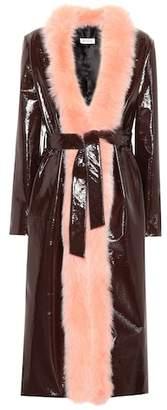 ATTICO Exclusive to mytheresa.com – Vivian fur-trimmed coat