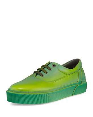 Lanvin Ombre Leather Low-Top Sneaker, Green/Yellow $825 thestylecure.com