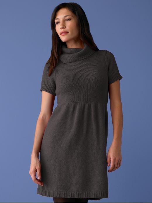 Banana Republic Wool-blend sweater dress - Gray heather