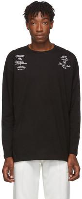 Raf Simons Black Cotton Long Sleeve T-Shirt