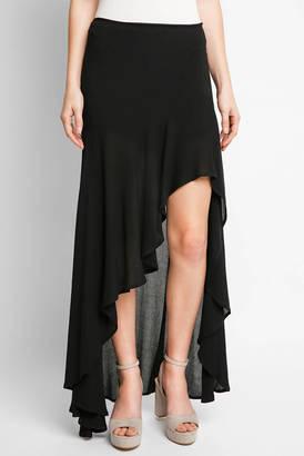 Cotton Candy Ruffle Hem Maxi Skirt $78 thestylecure.com