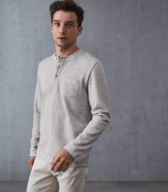 Reiss Wansworth Knitted Henley Top