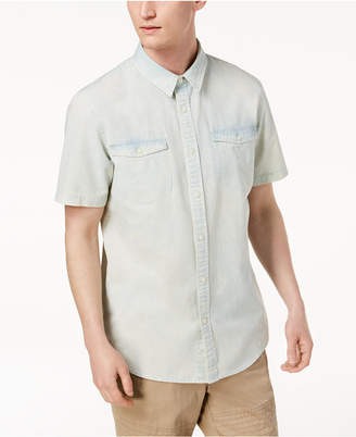 American Rag Men's Washed Denim Shirt