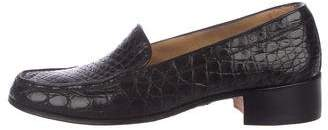 Gravati Crocodile Round-Toe Loafers