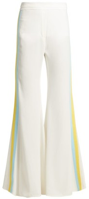 Ellery Love Affair Striped Crepe Trousers - Womens - Ivory