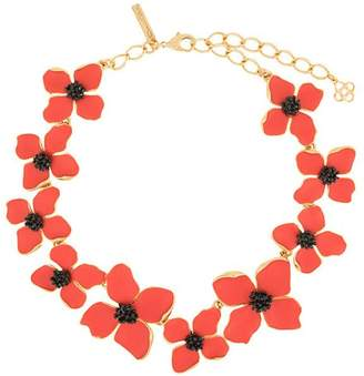 Oscar de la Renta painted flower necklace