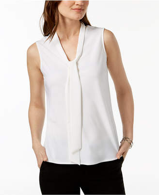 Kasper Tie-Neck Top