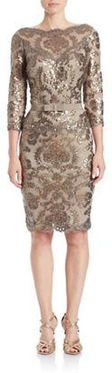Tadashi Shoji Sequin Sheath Dress $399 thestylecure.com