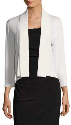 Calvin Klein Three-Quarter Sleeve Shawl Sweater