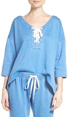 Women's The Laundry Room Lace-Up Sweatshirt $112 thestylecure.com