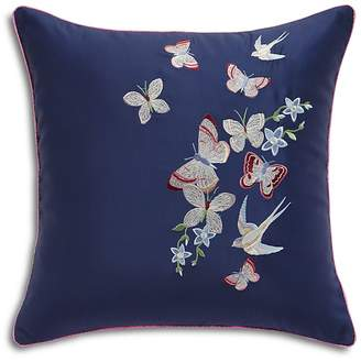 "Ted Baker Embroidered Floral Decorative Pillow, 16"" x 16"""