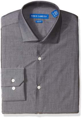 Vince Camuto Men's Slim Fit Chambray Dress Shirt