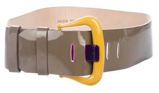 Silvia Tcherassi Patent Leather Waist Belt