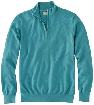 L.L. Bean L.L.Bean Men's Cotton/Cashmere Sweater, Quarter-Zip