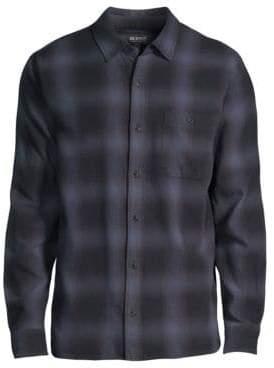 Hudson Jeans Plaid Cotton Button-Down Shirt